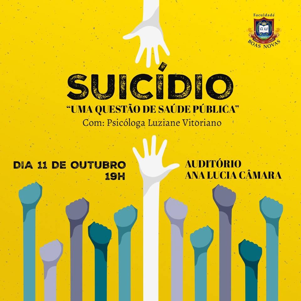 """""""Suicídio: uma questão de saúde pública"""". (11 de Outubro)"""