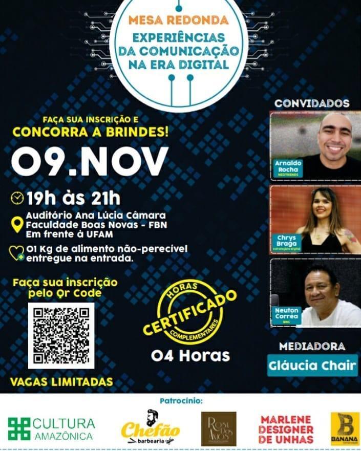 """Mesa-redonda """"Experiências de Comunicação na Era Digital"""" (09 de Novembro)"""