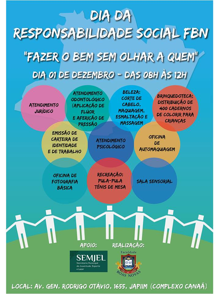"""Dia da Responsabilidade Social """"FAZER O BEM SEM OLHAR A QUEM"""" (01 de Dezembro)"""