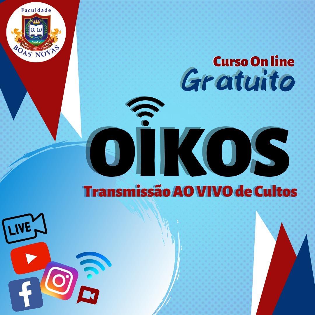 Faculdade Boas Novas oferece curso on-line gratuito de Transmissão ao vivo de cultos.