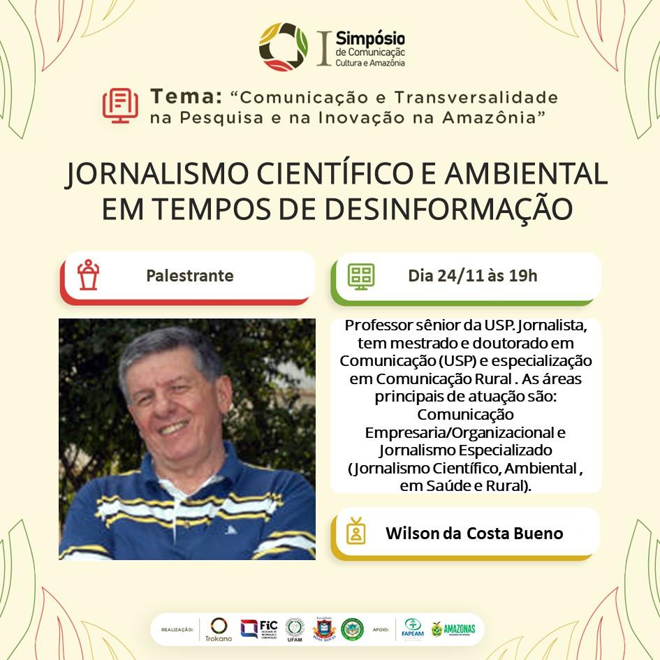 Inscrição para o 1° Simpósio de Comunicação, Cultura e Amazônia